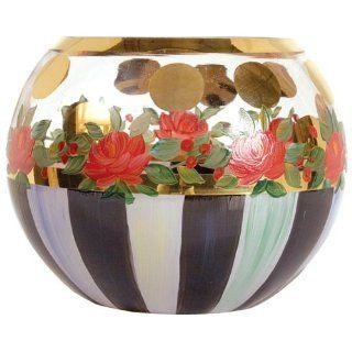 MacKenzie Childs Heirloom Glass Globe Vase   Large�: Patio, Lawn & Garden