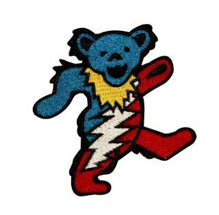 Grateful Dead   Lightening Dancing Bear   Embroidered Iron on Patch   Apparel