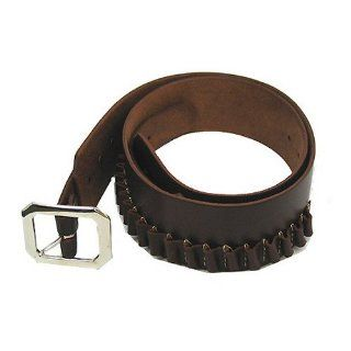 Hunter Company Genuine Leather Adjustable Cartridge Belt, Antique Brown / 25 Cartridge Loops fits .38/.357 Caliber Sports & Outdoors