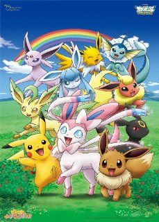 Friends and Eevee Eevee Friends 300 Large Piece Pikachu and Pokemon Best Wishes Pikachu 300 L357 Toys & Games