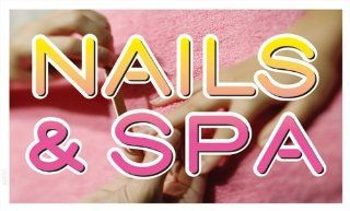 ADV PRO bb356 Nail and Spa Beauty Salon Banner Sign   Business And Store Signs