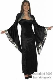Adult Black Sorceress Costume (Size:X large 14 16): Clothing