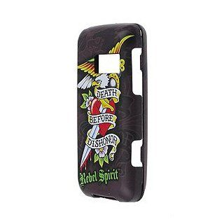 Rebel Spirit Tattoo Designer Phone Cover Snap On Protector Case for LG Rumor Touch Sprint   Death Before Dishonor: Cell Phones & Accessories