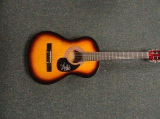 Valerie Poxleitner Signed Sunburst Acoustic Guitar Lights Exact Proof   Signed Guitars: Collectibles & Fine Art