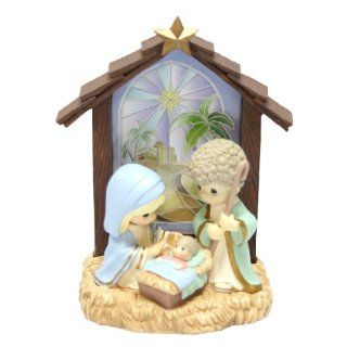 Precious Moments Light Up Nativity Holy Family in Stable Collectible Figure   Collectible Figurines