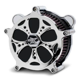 RC Components Airstrike Chrome Holeshot Air Cleaner for 1997 2007 Harley Davidson Touring, 1997 & Newer Softails & Dynas   AC 02C Holeshot Automotive