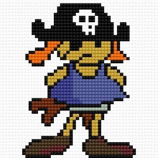Pirate Counted Cross Stitch Pattern on a CD