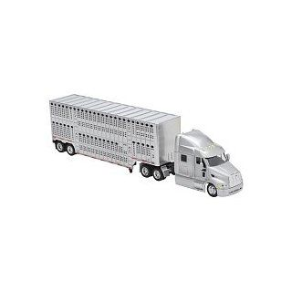 Fast Lane 1:43 Scale Might Haulers   Peterbilt 387 Tractor Trailer with Livestock Hauler: Everything Else