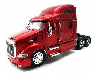 Jada Toys RoadRigz   Peterbilt 387 Model Tractor Trailer (1:32, Red) diecast car model: Toys & Games