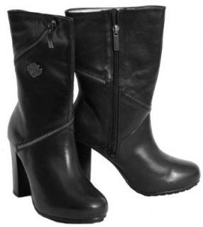 Harley Davidson Sabrina Tall Black Boots Womens (7 M) Shoes