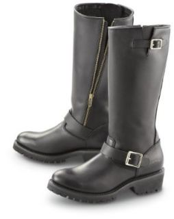 "Men's Guide Gear 14"" Side   zip Engineer Boots Black, BLACK, 9.5M Shoes"