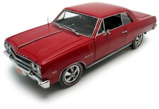 1965 Chevrolet Chevelle Malibu SS 396 in Red Diecast 118 Scale American Muscle Authentics by Ertl 2003 Toys & Games