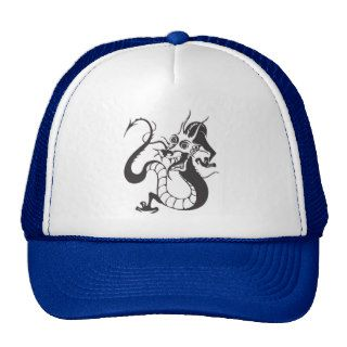 Dragon Tattoo Fantasy Fiction Drawing Cartoon Art Trucker Hats