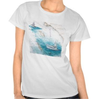 F/V Blue Bill Catalina Island Sport Fishing Boat Tee Shirt