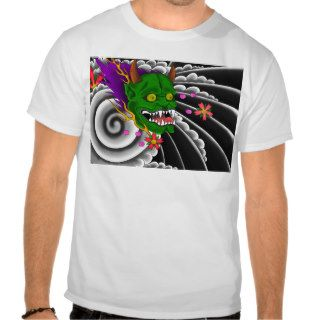 japanese mask tattoo design tee shirt