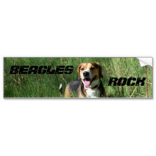 Beagles Rock Bumper Sticker Cooper Hunting Hound