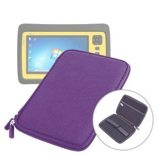 """DURAGADGET Purple """"Tough"""" Protective Hard Clam Shell Zip Case With Soft Felt Lining & Netted Interior Pocket For Polaroid Diamond 9"""" MIDC 409 PR002 AND Trimble Yuma 2 (Windows 7 OS, 1.6Ghz Intel Atom Dual Core Processor) Outdoor Rugged T"""