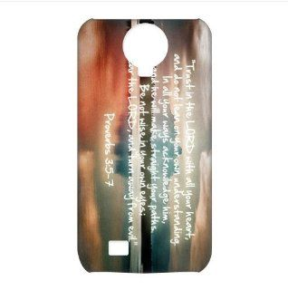 Treasure Design Christian Quotes   Bible Samsung Galaxy S4 I9500 3D Waterproof Back Cases Covers: Cell Phones & Accessories