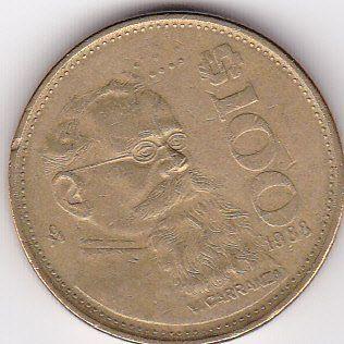 1988 Mexico 100 Peso Coin