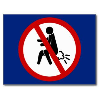 NO Farting ⚠ Funny Thai Toilet Sign ⚠ Postcards