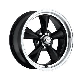 """15 inch 15x7"""" 100 B Classic Series Black aluminum wheels rims licensed from American Racing 5x4.75"""" Chevy lug pattern 0 offset 4.00"""" backspacing (set of four wheels) Automotive"""