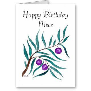 Brilliant Brier Bough, Happy Birthday Niece Greeting Cards