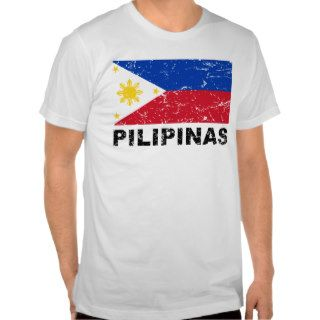 Philippines Flag Vintage T Shirts
