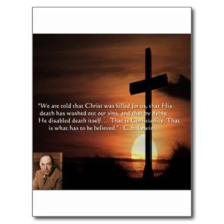 CS Lewis W/Christian Theme & Quote Gifts & Tees Postcard