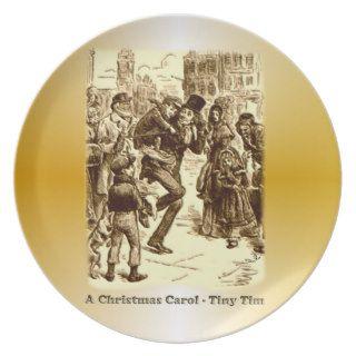 Bob Cratchit and Tiny Tim Christmas Carol Plates
