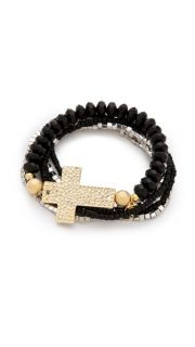 Belle Noel Beaded Cross Bracelet Set