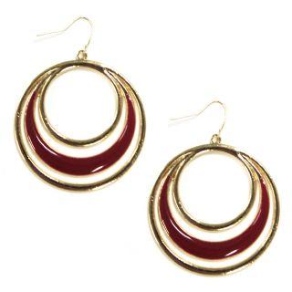 Jaclyn Smith Overlapping Circle Drop Earrings   Jewelry   Fashion Jewelry   Earrings