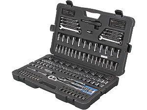 Stanley STMT71654 201 Piece Mechanics Tool Set / wrenches / Regular Sockets / Deep sockets / Round Head Ratchets