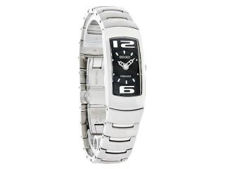 Seiko Quartz Ladies Premier Black Dial Bangle Bracelet Dress Watch SUJ413 New