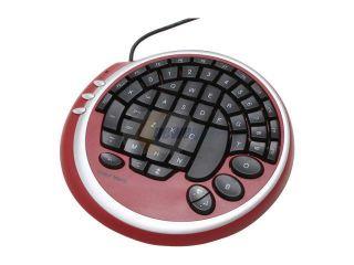 WOLF KING Warrior DK2388URD Red/Black 55 Normal Keys USB Gaming Keyboard