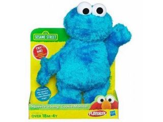 Playskool Sesame Street Squeeze A Song Cookie Monster Plush Stuffed Animal