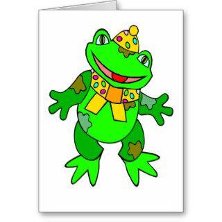 Cartoon Frog Birthday Card