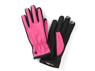 Isotoner Smart Touch 2.0 Womens Pink Matrix Tech Gloves for Texting Ultraplush