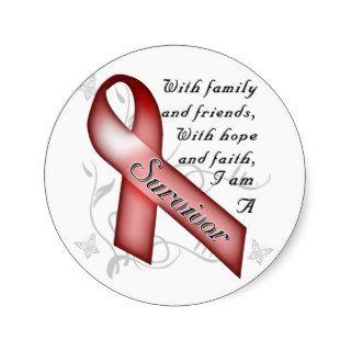 Sickle Cell Anemia Survivor Stickers