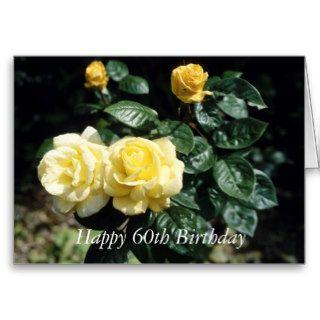 Happy 60th Birthday Flower Card