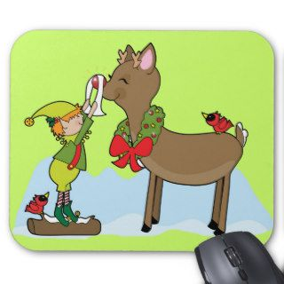 Rudolph Red Nose Reindeer Mouse Pad