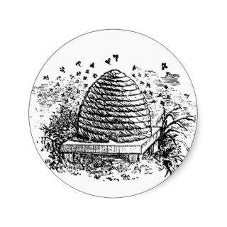 Vintage Beehive Honey Bees Beekeeping Stickers