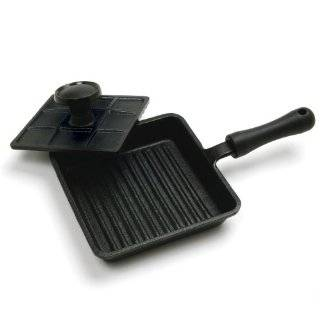 Norpro Enamel Cast Iron Panini Press: Kitchen & Dining