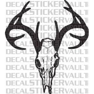 Deer Skull Rack Hunting Decal Sticker Window Decal Hunter Bowhunter